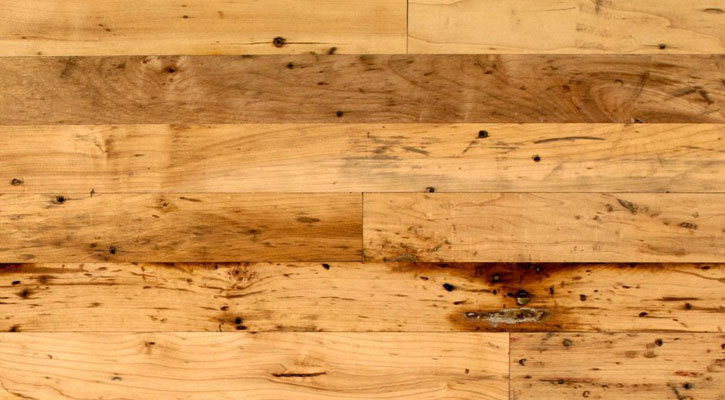 Reclaimed Antique Factory Maple Plank Flooring Jewett