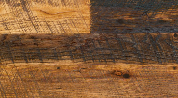 Reclaimed Antique Oak Hit Skip Flooring - Reclaimed Antique Wood Flooring - Jewett Farms + Co.