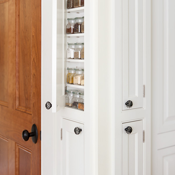 Custom Cabinetry Built In Spice Storage