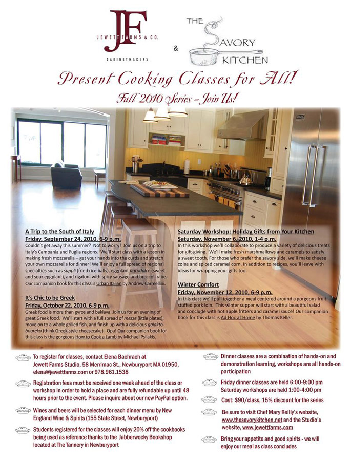 Jewett Farms Fall Cooking Classes