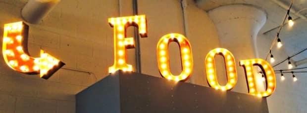 Giant food sign at Canteen IDB BDC