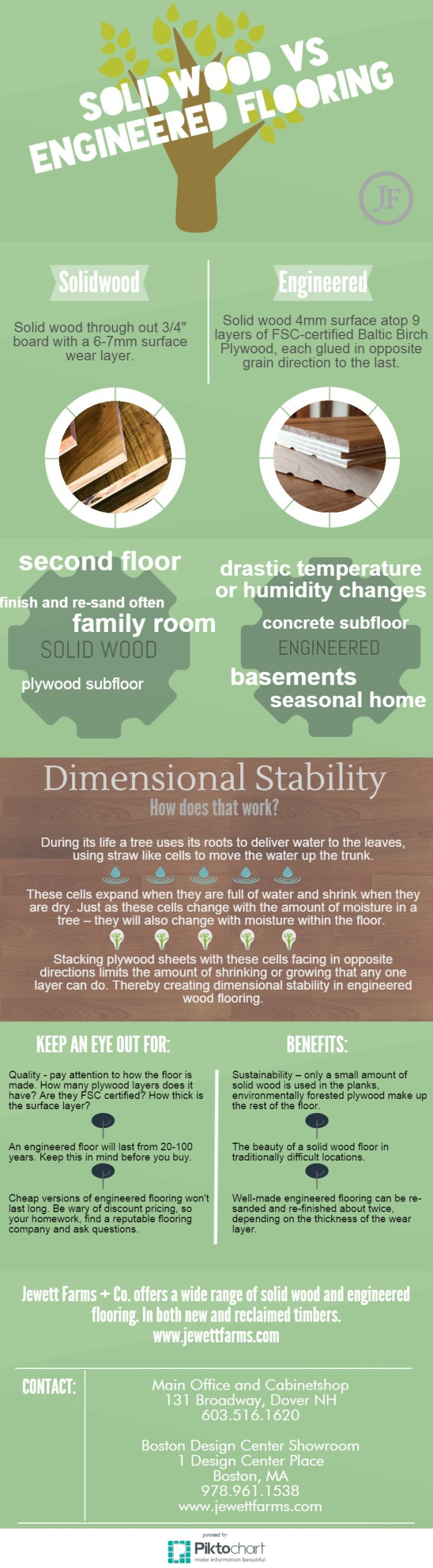 Solid Wood Vs. Engineered Flooring Infographic