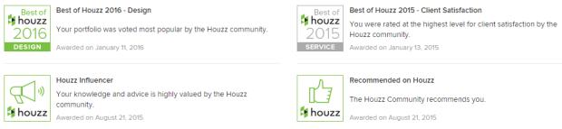houzz badges