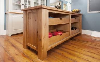 Kitchen Island storage drawers